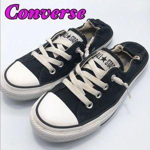 Converse Black Shoreline Elastic Back Slip on W7.5